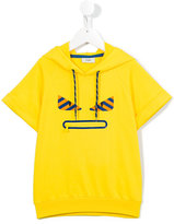 Fendi hooded T-shirt - kids - Cotton/Spandex/Elastane - 4 yrs