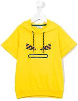Fendi hooded T-shirt - kids - Cotton/Spandex/Elastane - 8 yrs