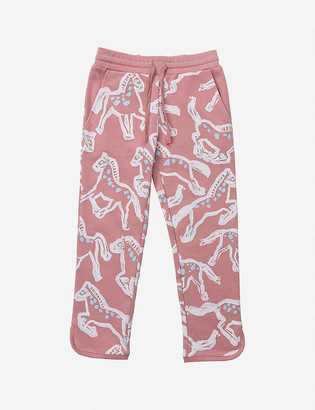 Stella McCartney Horse-print cotton-jersey jogging bottoms 4-16 years