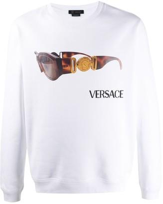 Versace Biggie sunglasses print sweatshirt