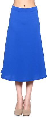 Cali Usa Cali USA Women's Casual Skirts ROYAL - Royal A-Line Skirt - Women & Plus