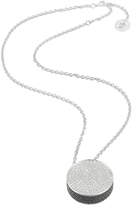 Ileana Creations Azhar Zircon Disc Pendant Necklace