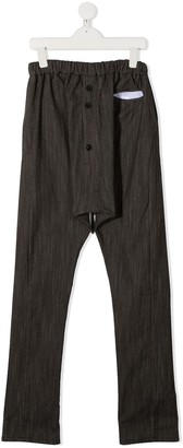 Anja Schwerbrock Kids Button-Down Trousers