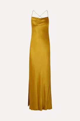 Mason by Michelle Mason Silk-satin Gown - Mustard