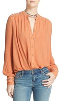 Free People 'The Best' Button Front Blouse