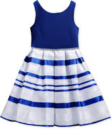 Sweet Heart Rose Striped Organza Party Dress, Toddler & Little Girls (2T-6X)
