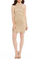 B. Darlin Chain Lace Sheath Dress