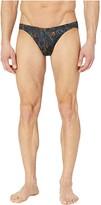 Hom Dark Botanic Comfort Micro Briefs (Black) Men's Underwear