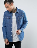 G Star G-Star 3301 Slim Fit Denim Shirt Medium Aged Wash