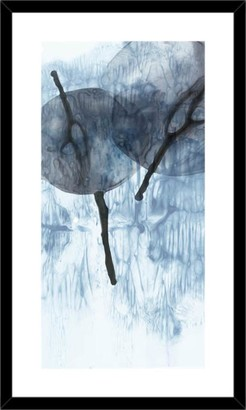 La Grolla Dripping Circles I Blue Framed Print