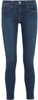 L'Agence Chantal Low-rise Skinny Jeans - Dark denim