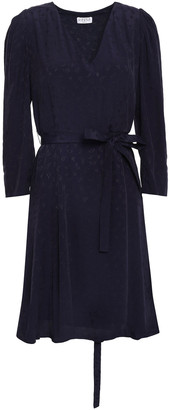 Claudie Pierlot Raphael Belted Pleated Jacquard Mini Dress