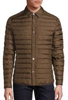 Salvatore Ferragamo Quilted Silk Shirt Jacket