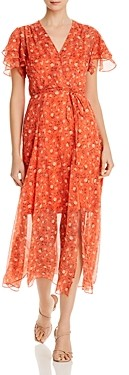 French Connection Esi Crepe Floral Maxi Dress