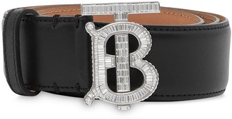Burberry Crystal Monogram Buckle Belt