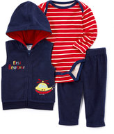Buster Brown Navy & Red 'First Response' Hooded Vest Set - Infant