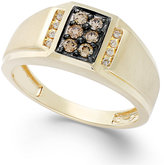 Effy Gento by Men's Brown Diamond and White Diamond Accent Ring in 14k Gold (1/3 ct. t.w.)