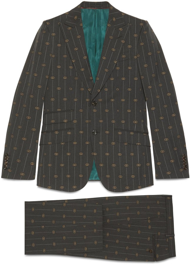 Gucci Heritage Interlocking G stripe wool suit