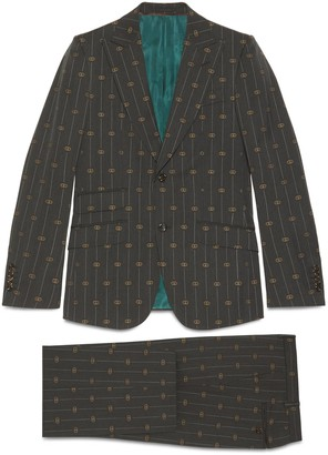 Gucci Heritage Interlocking G stripe wool suit