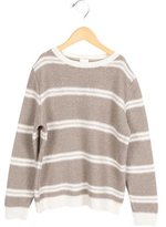 Il Gufo Girls' Knit Striped Sweater