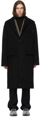 Alexander Wang Black Brushed Wool Coat