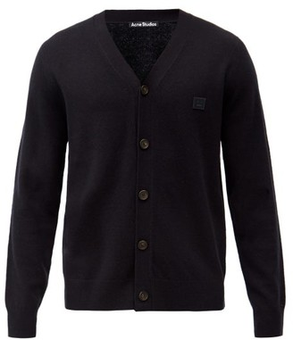 Acne Studios Keve Logo-embroidered Wool Cardigan - Black