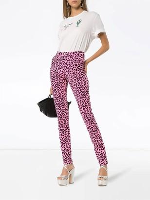 Leopard Print High-waisted Skinny Jeans