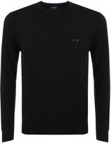 Giorgio Armani Jeans Knitted Crew Neck Jumper Black