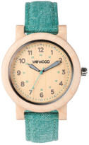 WeWood Dehna Beige/Cyan Women&s Wood Watch