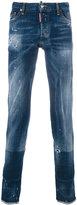 DSQUARED2 distressed regular jeans - men - Cotton/Polyester/Spandex/Elastane - 44