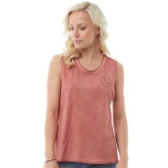 Animal Womens Shadow Graphic Vest Brick Dust Pink