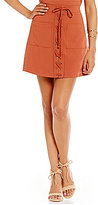 Lovers + Friends Beachwood Lace-Up A-Line Skirt