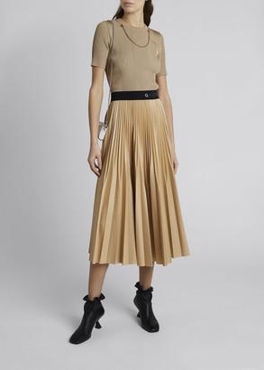 Givenchy Pleated Logo-Waist Skirt