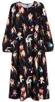 H&M Knee-length Dress - Black floral - Ladies