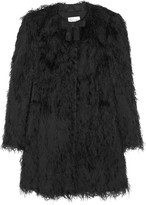 RED Valentino Fringed twill coat