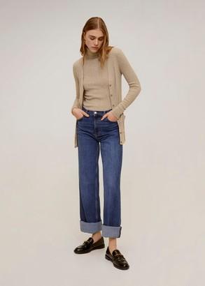 MANGO Combined knitted cardigan light/pastel grey - XS - Women