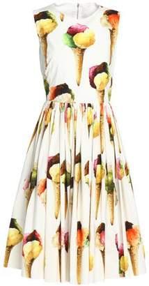 Dolce & Gabbana Flared Printed Cotton Dress