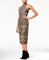 Rachel Roy Embroidered Contrast-Trim Dress, Only at Macy's