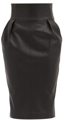 Alexandre Vauthier High-rise Leather Pencil Skirt - Black