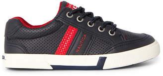 Nautica Kids Boys) Navy Perforated Low-Top Sneakers