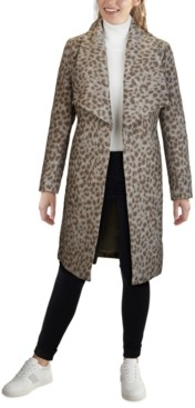 Cole Haan Leopard Wrap Coat