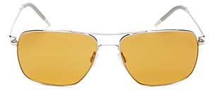 Oliver Peoples Unisex Clifton Polarized Brow Bar Square Sunglasses, 58mm