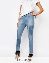 Northmore Denim Northmore Patchwork Skinny Ankle Grazer Jeans