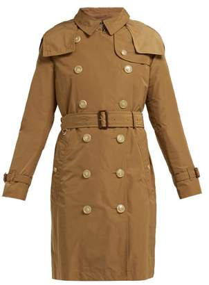 Burberry Kensington Hooded Taffeta Trench Coat - Womens - Camel