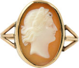 One Kings Lane Vintage Victorian Shell Cameo Portrait Gold Ring