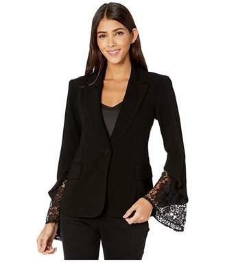 Nanette Lepore Lace Sleeve Blazer