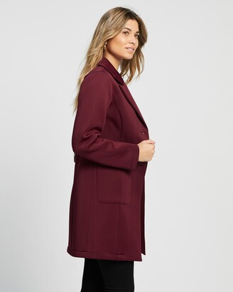 Atmos & Here Atmos&Here - Women's Red Coats - Sally Scuba Coat - Size 8 at The Iconic