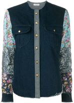 Natasha Zinko contrast sleeve denim shirt - women - Cotton - 38