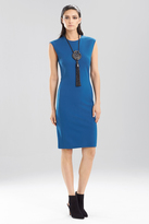 Josie Natori Double Knit Jersey Sleeveless Dress