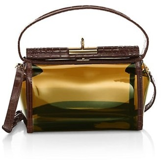 Gu_de Water Leather-Trimmed PVC Crossbody Bag